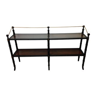 Campaign Style Bamboo Motif Ebonized Console