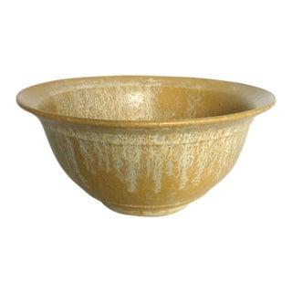 Rustic Harvest Gold Studio Ceramic Serving Bowl