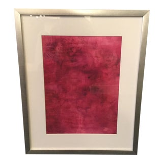 """Couleurs VI"" Abstract Print in Silver Frame"