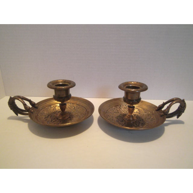 Bronze Chamber Candel Holders - A Pair - Image 2 of 11