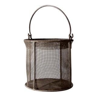 vintage wire mesh basket