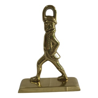Small Brass Hessian Soldier Doorstop