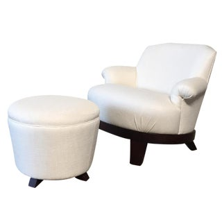 Promemoria 'Gacy' Lounge Chair & Ottoman Set
