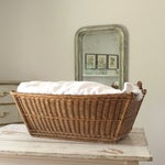 Image of Vintage French Country Wicker Laundry Basket