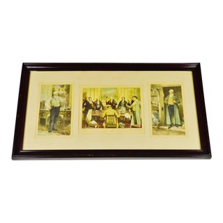 Early Morris & Bendien Framed Mezzogravure Prints