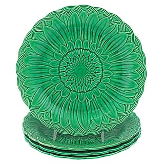 Wedgwood Majolica Sunflower Plates - Set of 4
