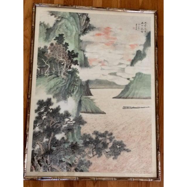 Vintage Asian Seaside Painting - Image 9 of 11