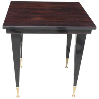 French Art Deco Exotic Macassar Ebony Game Table / Center Table, circa 1940s