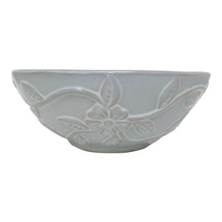 Aquamarine Glazed Ceramic Bowl