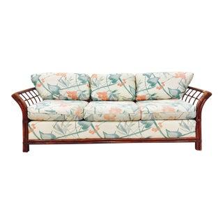 Vintage Palm Beach Bamboo & Rattan Sofa