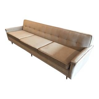 Vintage Mid-Century Dunbar Style Velvet Sofa