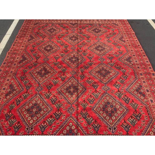 "Vintage Persian Yalameh Area Rug - 7'8"" x 9'7"" - Image 3 of 11"