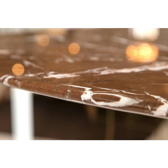Mid-Century Red Marble Table in Brueton Style - Image 7 of 7