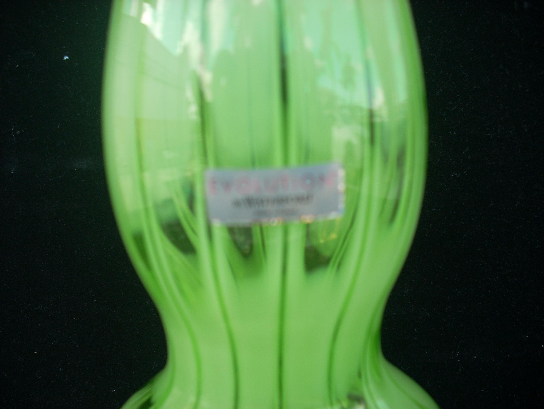 Contemporary Polish Waterford Green Vase Chairish