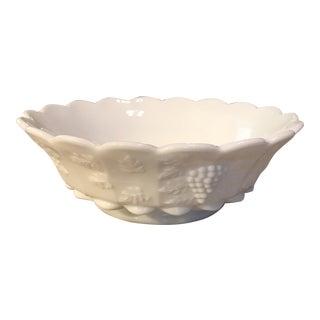 Large Milk Glass Bowl
