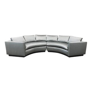 Two-Piece Sofa Sectional in Satin