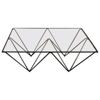 Geometric Brass & Glass Coffee Table