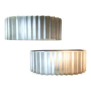 Sirmos Cast Resin White Sconces - A Pair