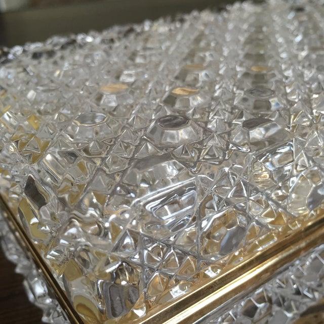 Vintage Crystal Jewelry Box - Image 6 of 7