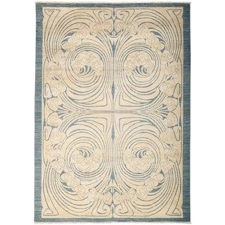 "Shalimar, Hand Knotted Art Nouveau Ivory Wool Area Rug - 6' 1"" X 8' 7"""