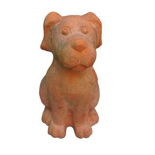 Terra Cotta Dog Statue