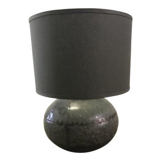 Caisson Round Metal Table Lamp