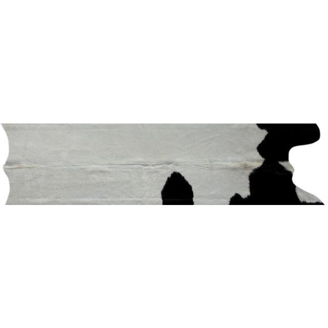 "Image of Brazilian White & Black Cowhide Rug - 5'9"" x 6'9"""