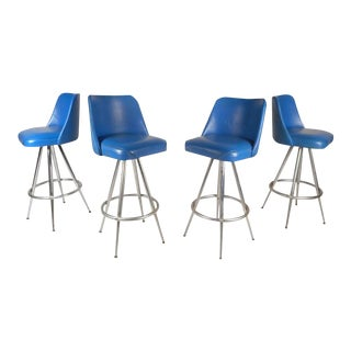 Vintage Modern Bar Stools by L & B Products Corporation - Set of 4