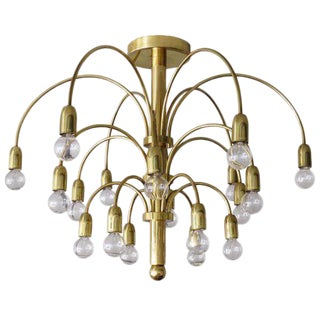 German Flush Mount Fountain Chandelier