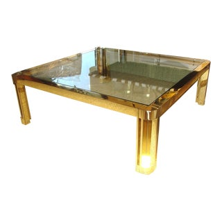 Oversized Polished Brass Coffee Table
