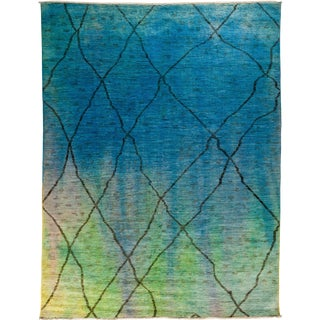 """New Over-Dyed Moroccan Hand-Knotted Rug - 8'8"""" x 11'4"""""""