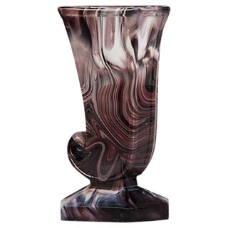 Northumberland Glass Cornucopia Vase with Foot, England c.1890