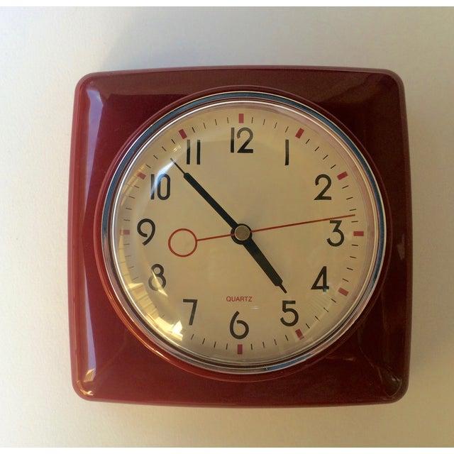 Mid Century Style Wall Clock - Image 2 of 3