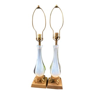 Vintage Italian Murano Table Lamps - A Pair