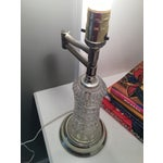 Image of Vintage Cut Glass Swing Arm Accent Lamp