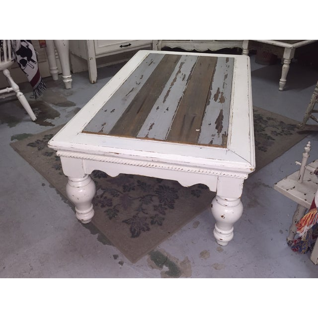 Vintage French Provincial White Coffee Table - Image 3 of 11