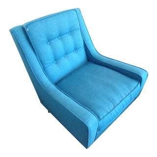 Blue Tufted Slope Armchair