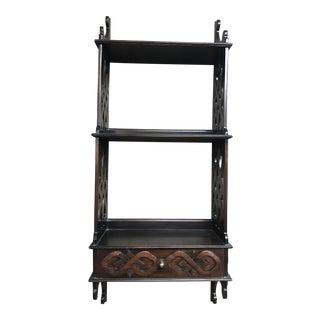 Mahogany Ribbon Front Shelf