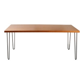 Teak Hairpin Dining Table