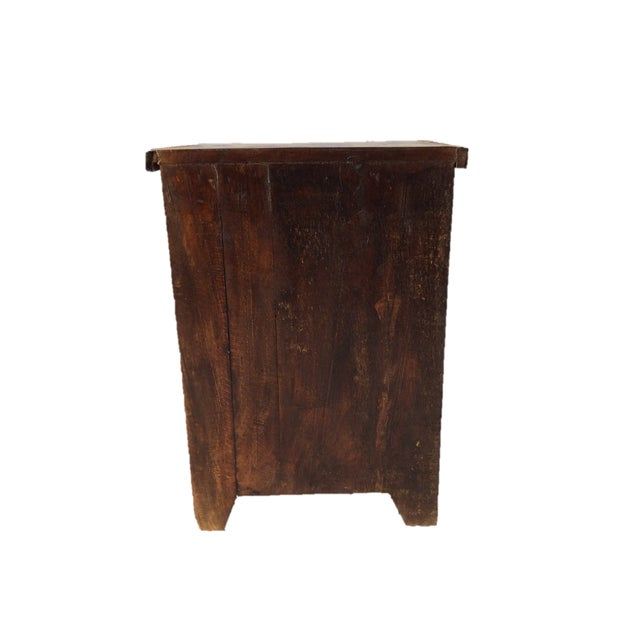 Reclaimed Wood Side Table/Small Cabinet - Image 5 of 5