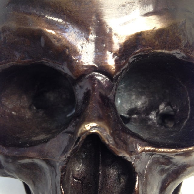 Metal Skull Sculpture - Image 7 of 7