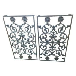 Vintage Iron Grates - A Pair
