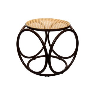 Michael Thonet Vintage Bentwood Rattan Cane Stool