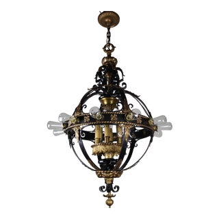 Italian Renaissance Flush Mount Stair Lantern, 18 Lights