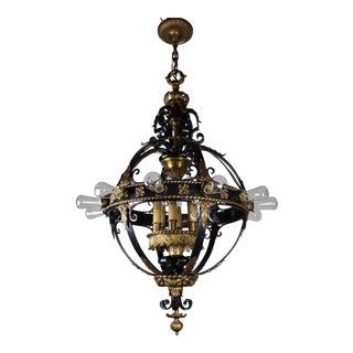 Italian Renaissance Flush Mount Stair Lantern, 18 Lights