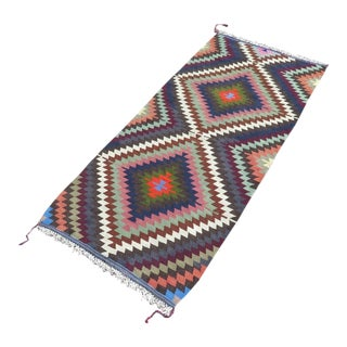Vintage Turkish Kilim Rug - 2′10″ × 6′5″