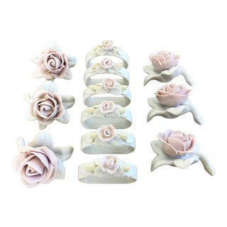 Porcelain Napkin Rings & Place Card Holders - Set of 6