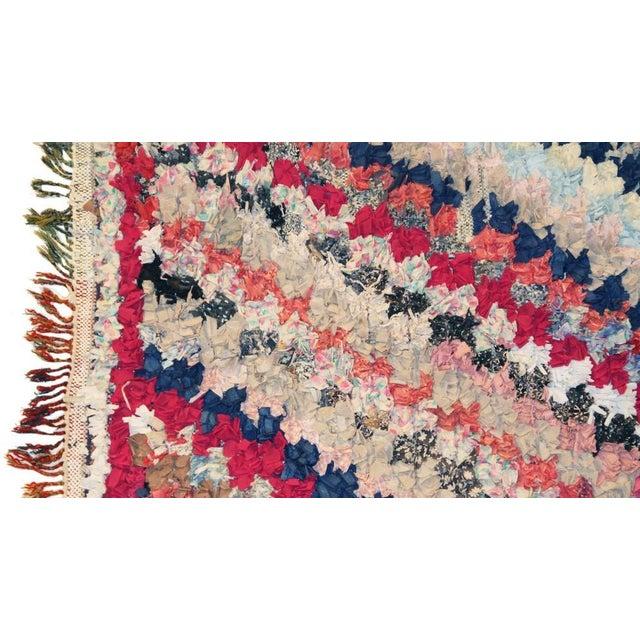 """Vintage Boucherouite Rag Rug - 3'x7'9"""" - Image 2 of 3"""