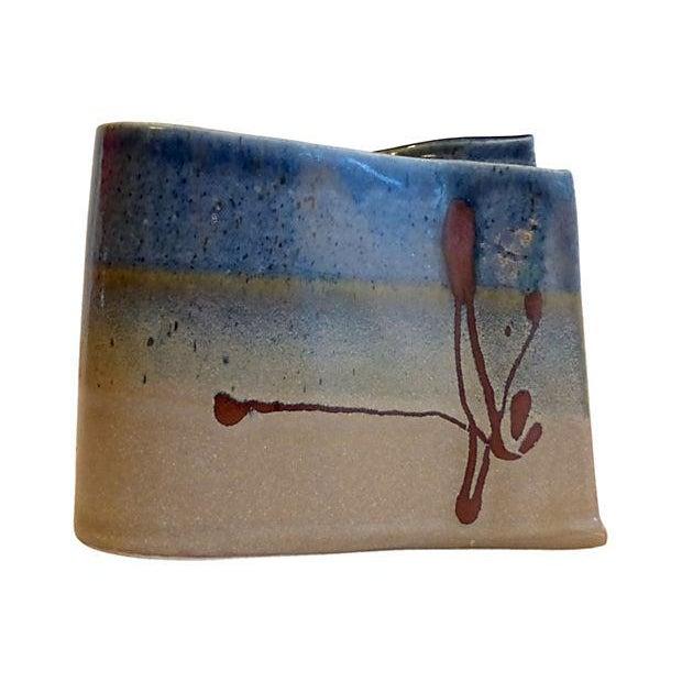 Handmade Signed Pottery Vase - Image 1 of 5