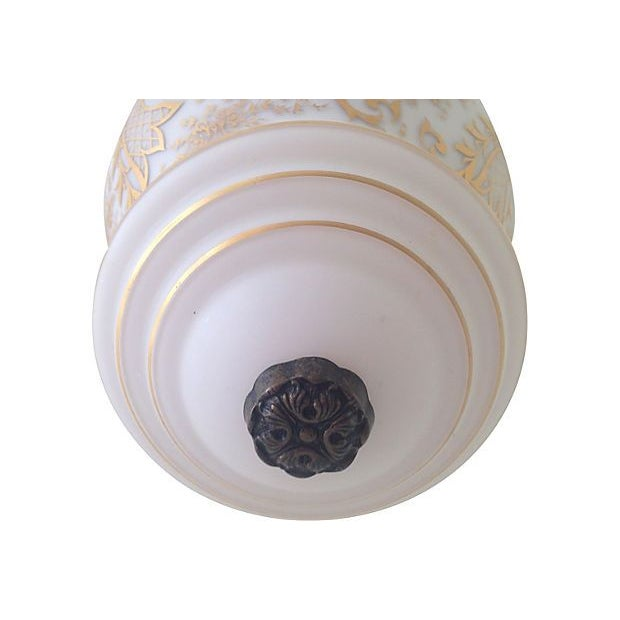 Image of Hand-Painted French Glass Pendant Light
